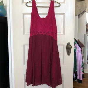 Pink Lace, Midi Dress.
